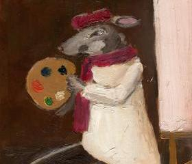 Mouse Art Painting Limited Edition Print - The Artist Mouse