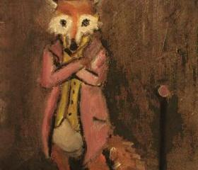 Brown Fox Art Painting Limited Edition Print - The Hustler Fox