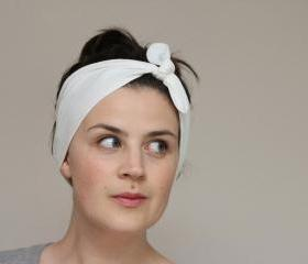 Knot Tie Turban Headband  Jersey Headscarf