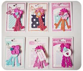 Key & Lock Embellishment for Scrap booking / card making etc