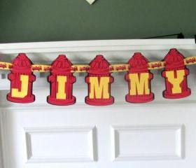 Little Fireman Birthday Banner