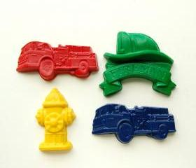 Fireman Party Favors - Package of 12 Firefighter Crayons