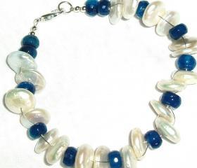  Blue Agate Pearl bracelet