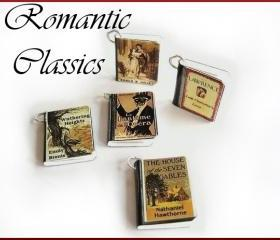 Romantic Classics Set of 5 Miniature Book Charms