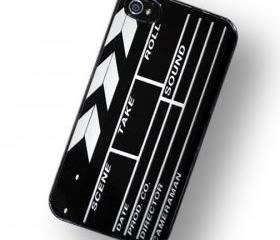 Directors Board Film Clapper iPhone Hard Case, fits iPhone 4 and iPhone 4S - Black Trim