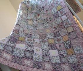 patchwork quilt cottage style shabby chic style quilt handmade quilt cover girls patchwork quilt wedding gift