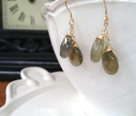 Labradorite Double Drop Earrings