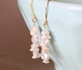BLAIR--Ivory Keishi Pearl and Gold Fill Earrings