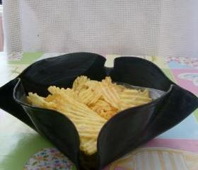 Retro Vinyl Chips Dish