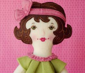 Grace - PDF Pattern Wool Felt Doll