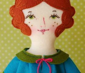 Rosie - PDF Pattern Wool Felt Doll