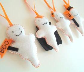 Ghosts Halloween Decoration - Set of 4 - Ornaments/favors/treats/toy/decor