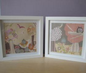 Woodland Scene Framed Picture Pair