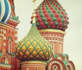 Russian Onion Domes - St. Basil's Cathedral - Moscow - Fine Art Photography 8x10'