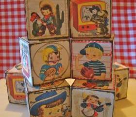 All American 50's Wooden Blocks