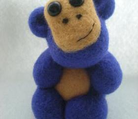 Custom Order for Joe - Needle Felted Purple Monkey