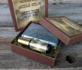 American Outlaw Gunslinger Soap and Colonge Gift Set