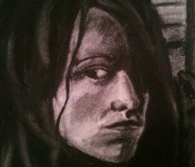 CUSTOM Portrait Drawing, Gift Idea, Charcoal on Printmaking Paper