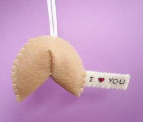 I heart you Fortune Cookie ornament