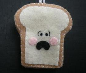 Funny Toast Ornament - Terrified Toast