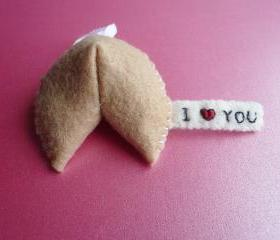 Felt Ornament Decoration - Funny Ornament - Fortune Cookie