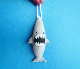 Funny felt ornament - Ferocious Shark