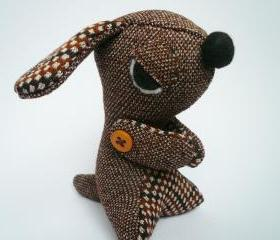 Stuffed animals - Evil Dog - Brown Vintage style