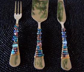 Beaded Cheese Serving Set - 3 pieces