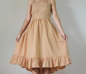 Short bridesmaid dress light brown Prom Party Cocktail Cotton Gown: Party Time Collection II
