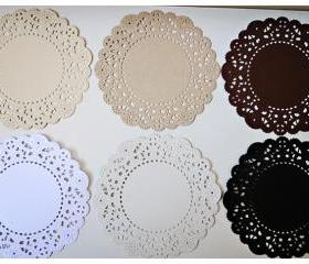 Parisian Lace Doily basic color for Scrap booking or card making / pack 