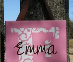 Personalized 'Emma' Girls Name Wall Hanging