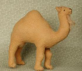 Miniature Soft Sculpture Camel