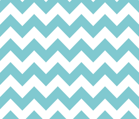 Chevron in Aqua - by Riley Blake Designs - 1 Yard