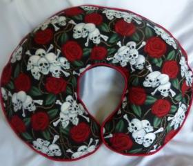 Roses and Skulls Boppy Pillow Cover Nursing Pillow Cover