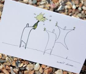 A6 Well done champagne card (anonymity range)