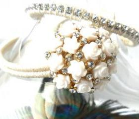 Bridal Jewelry set, Friendship Bracelet, the ultimate Peacock wedding, Bridal bracelet, trendy boho fashion wedding