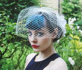 Birdcage Veil, Ivory.