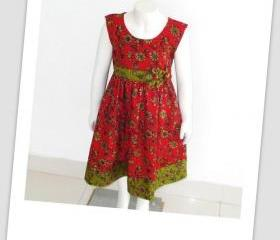 Sewing Pattern Girls Dress, Pdf Sewing Pattern, Caroline Summer Dress with Headband