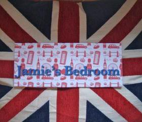 London Personalized Children's Room Sign