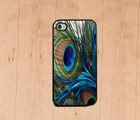 Iphone case - Peacock Feather , Iphone 4 case , Iphone 4s case