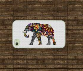 Iphone case - Colorful Elephant , Iphone 4 case , Iphone 4s case