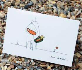 A6 New baby arrival card - orange (Anonymity range)