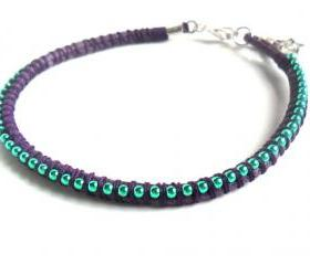 Neon Friendship Bracelet stackables trendy Metallic summer 2012 beach fun accessories