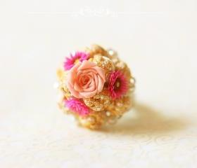 Miniature Food Ring - Profiteroles Ring - Dessert Ring