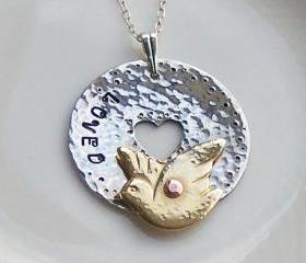 Silver Necklace, Loved Dove Design, Artisan Silver Jewellery and Keepsakes