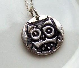 Owl Silver Necklace Artisan Silver Jewellery and Keepsakes