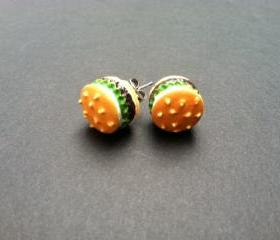 Yummy Hamburger Earrings