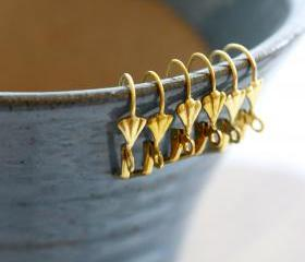 Scalloped Leverback Raw Brass Earwires