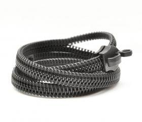 Zipper jewelry - handmade bracelets in black.