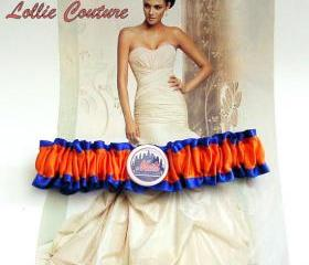 One Logo Garter - Any team color, team, name or Logo